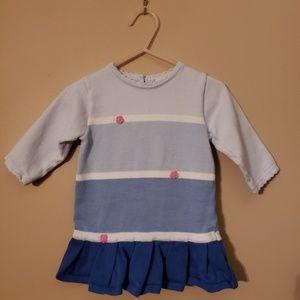 Florence oddler blue block sweater dress, like new